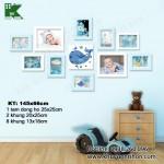 Bộ khung ảnh đồng hồ KDH007 1