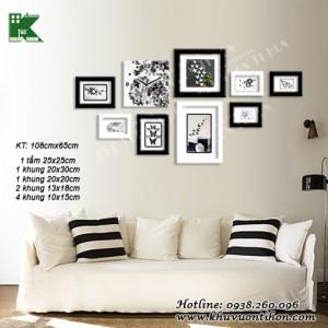 Bộ khung ảnh đồng hồ KDH017 1