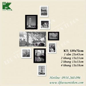 Bộ khung ảnh đồng hồ KDH012 2