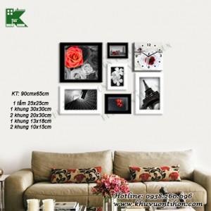 Bộ khung ảnh đồng hồ KDH019 1
